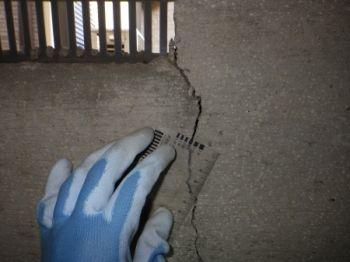 床下の基礎の構造クラック