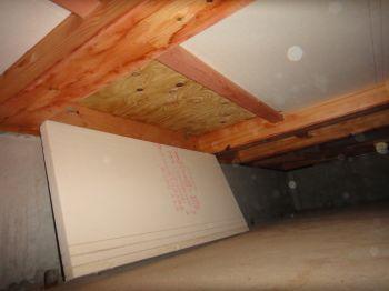 床下断熱材の落下