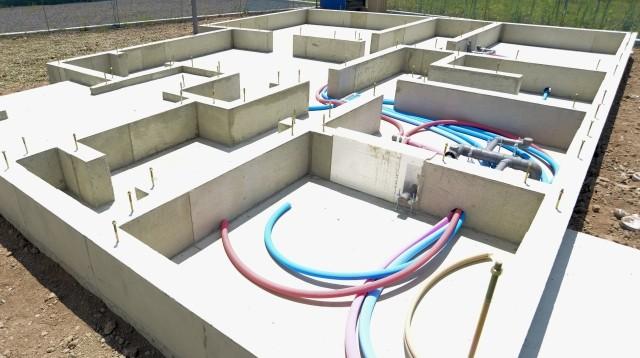 建築中の給排水管のチェック
